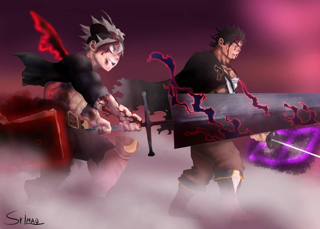 Yami vs Dante Black Clover